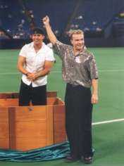 magicians performing at the Metrodome
